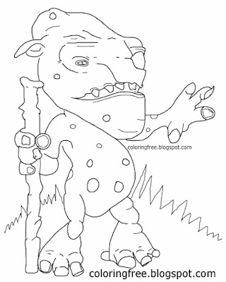 Fairy tale hobgoblin tricks or treat drawing forest troll kids Halloween coloring pages monster man