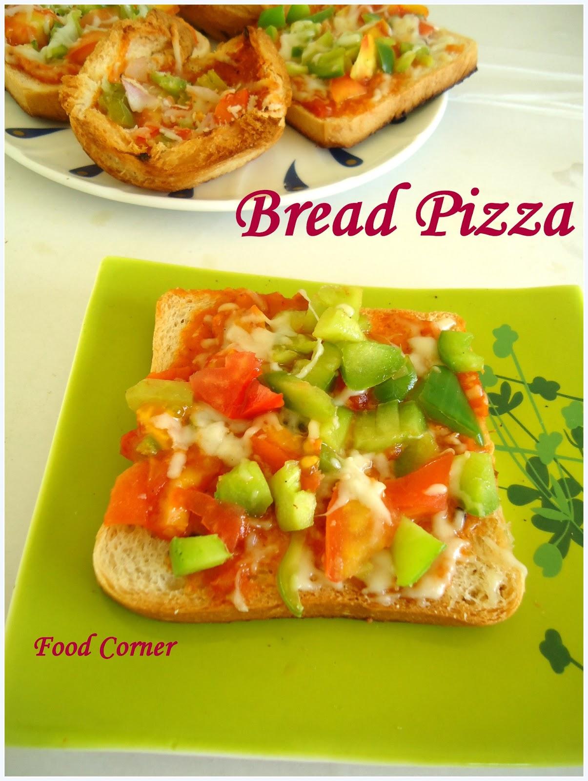 Cup Pizza Recipe Bread Pizza Recipe Kiran S Food Corner