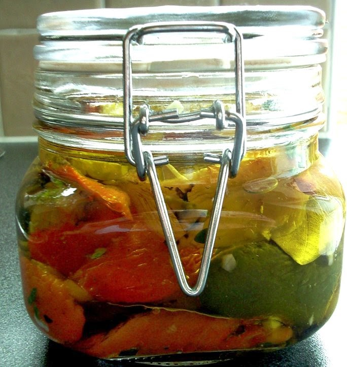 Peppers Preserved in Oil