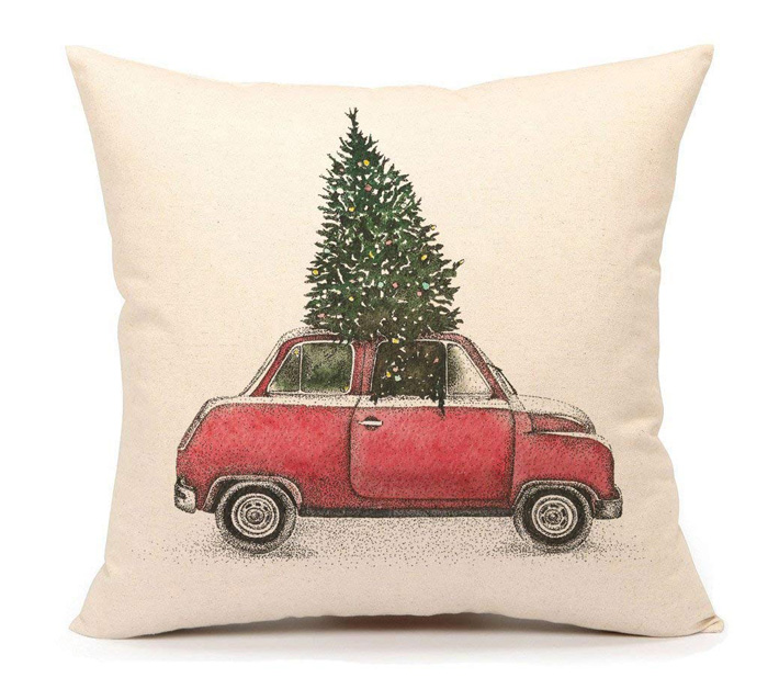 Christmas Tree Car Pillow