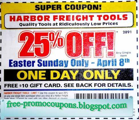 Harbor freight tools coupon code 2018