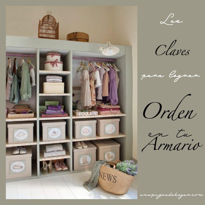 Claves para lograr orden en tu armario Small&Lowcost