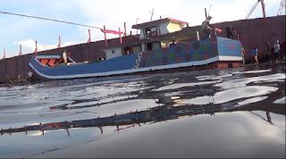 Kapal Peralon 'Baruna Fistama' Sukses Meluncur Di Laut