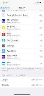iPhone X /8 Bug: Battery usage and standby are always shown the same :iOS 11.2