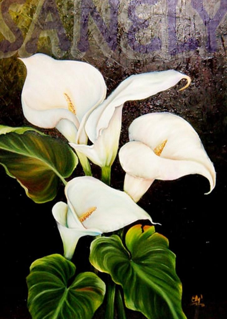 Pinturas De Flores Modernas Perfect Pinturas De Flores Abstractas