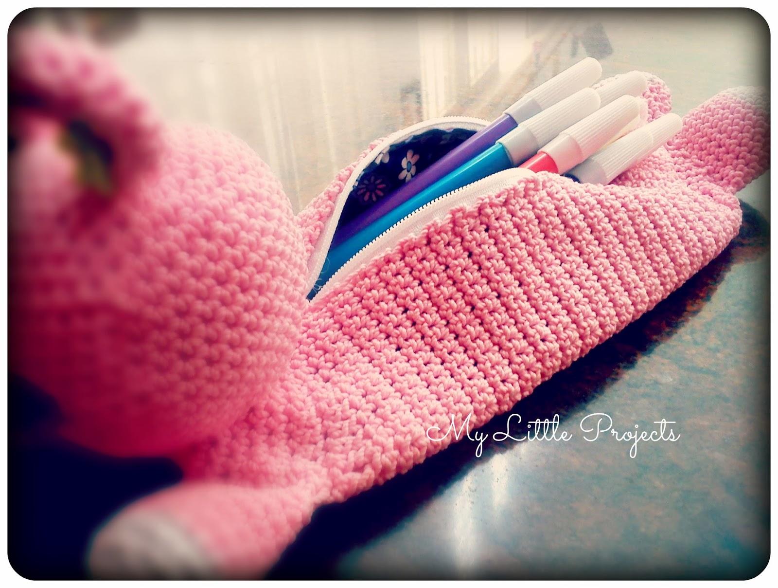 Amigurumi Bunny Pencil Holder : My little projects back to school bunny pencil case
