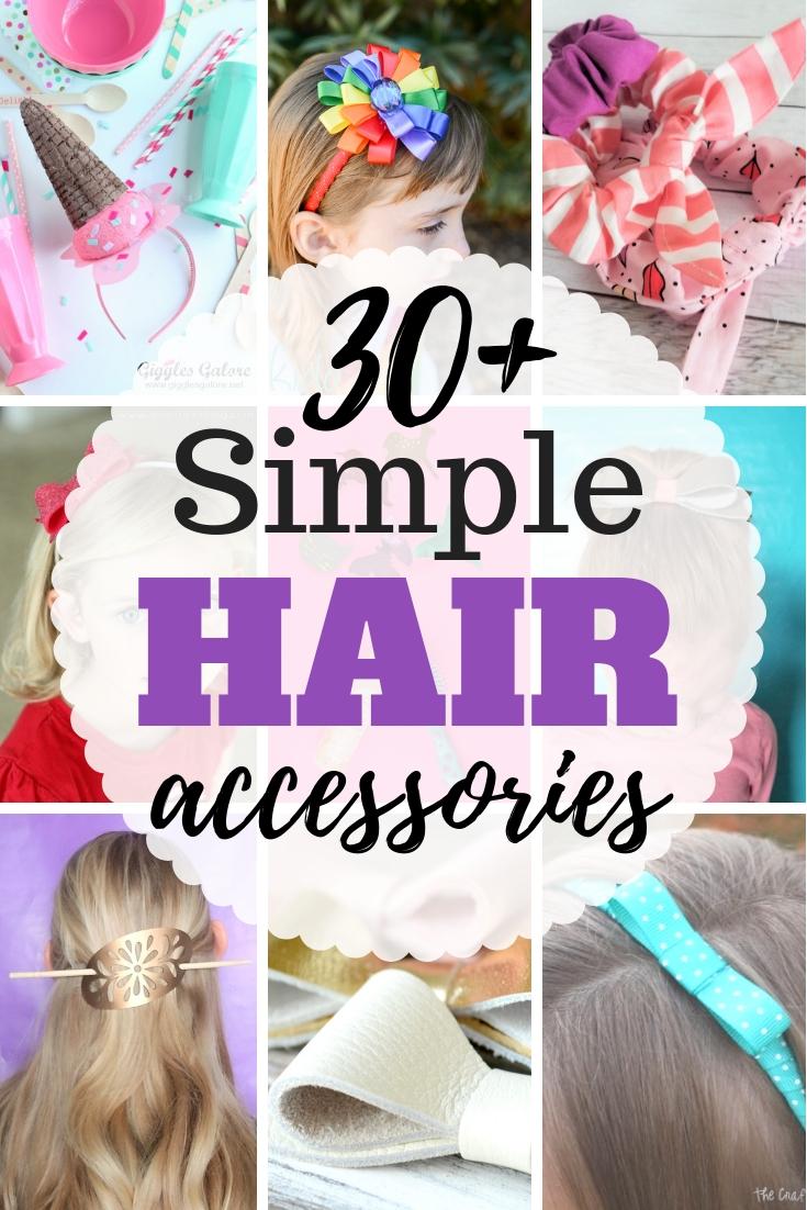 Hairbow Ribbon Barrettes Hair Clip Bow DIY Accs Starter Kit Hair Clips DIY