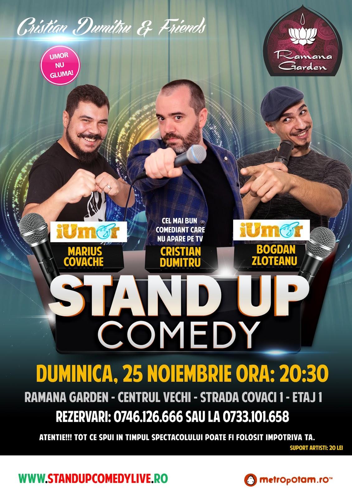 Stand-Up Comedy Bucuresti Duminica Centrul Vechi