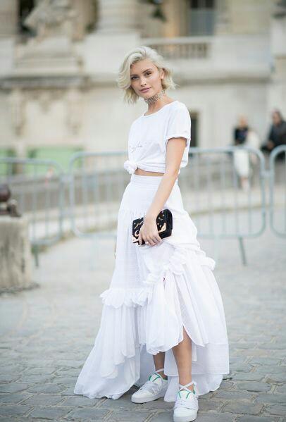 Gorgeous white blouse with white frok