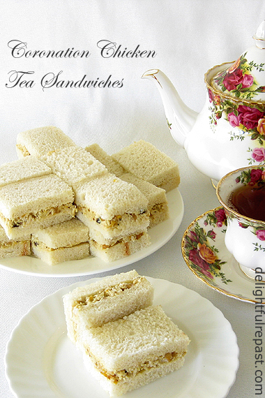 Coronation Chicken Tea Sandwiches (my version is less sweet than most) / www.delightfulrepast.com