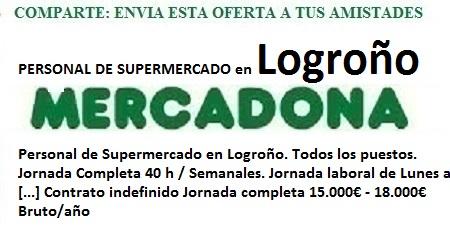 Logroño, Lanzadera de Empleo Virtual. Oferta Mercadona