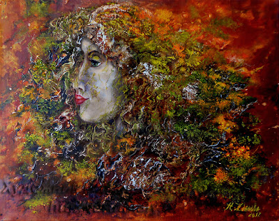 Contemporary Painting Forest Spirit in surreal style http://artnataly