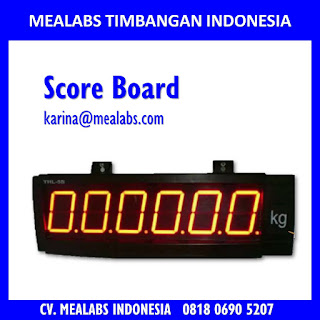 Jual Papan Score atau Score Board Timbangan