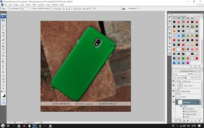 Cara Desain Mockup Samsung J7 Pro