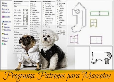 Programa. Patrones de Ropa para Mascotas