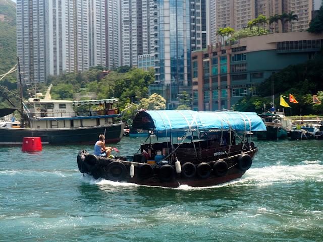 Sampan boat in Aberdeen, Hong Kong