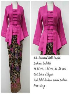 aneka model rok panjang batik