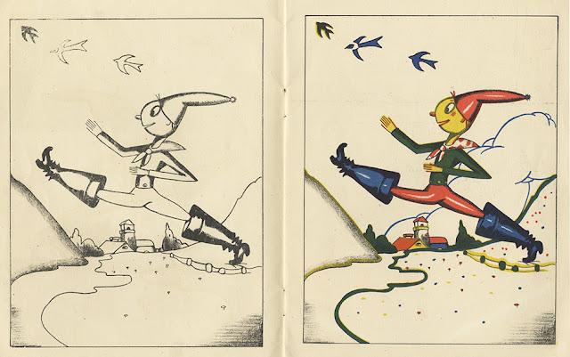Pinturas infantiles - Piti Bartolozzi -  Saturnino Calleja - Pulgarcito