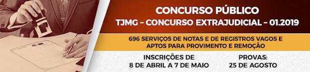 TJMG: Concurso Extrajudicial abre inscrições de 8/4 a 7/5