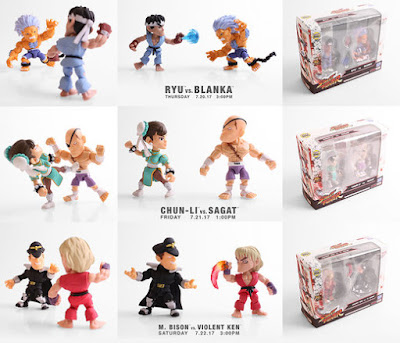 San Diego Comic-Con 2017 Exclusive Street Fighter Action Vinyls 2 Packs by The Loyal Subjects