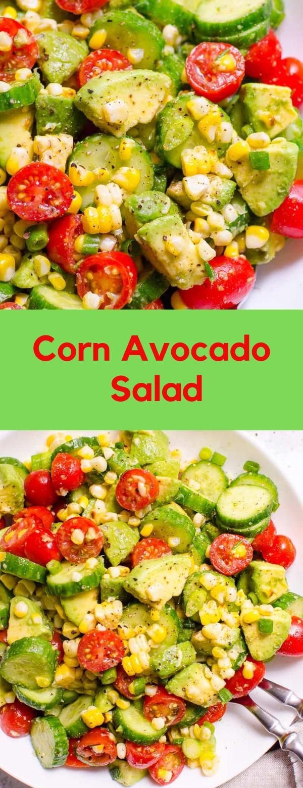 Corn Avocado Salad #CORN #AVOCADO #SALAD