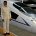 CM Chandrababu travels on bullet train
