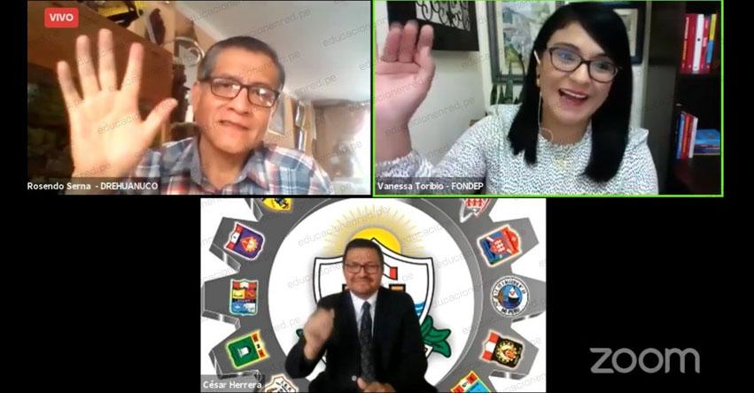FONDEP: DRE de Callao y Huánuco expusieron proyectos para mejorar el uso de las TIC en el tercer webinar de la Mesa de Aliados - www.fondep.gob.pe
