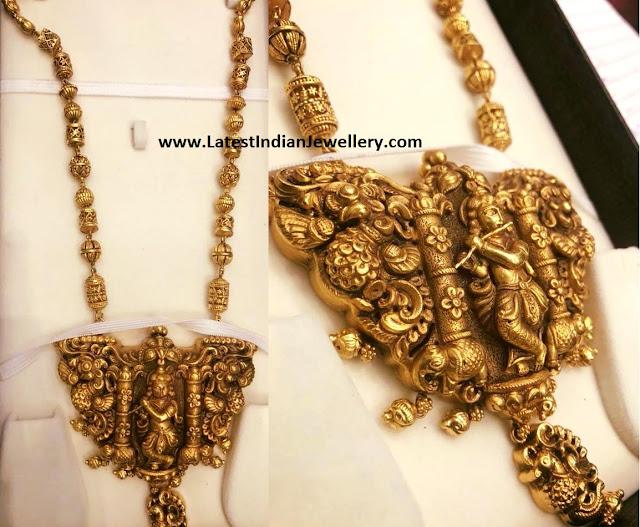 Beads Chain Nakshi Krishna Pendant