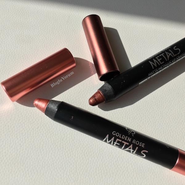 Golden Rose Metals Matte Metallic Lip Crayon Ruj Incelemesi