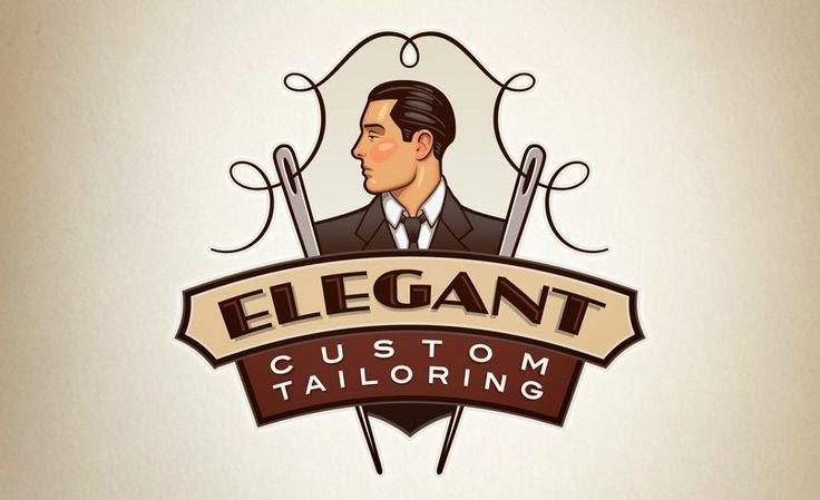 Elegant Custom Tailor Logo