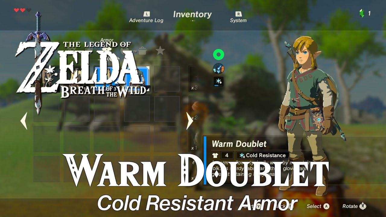 Zelda Breath Of The Wild Where To Find Cold Resist Snowquill Gear