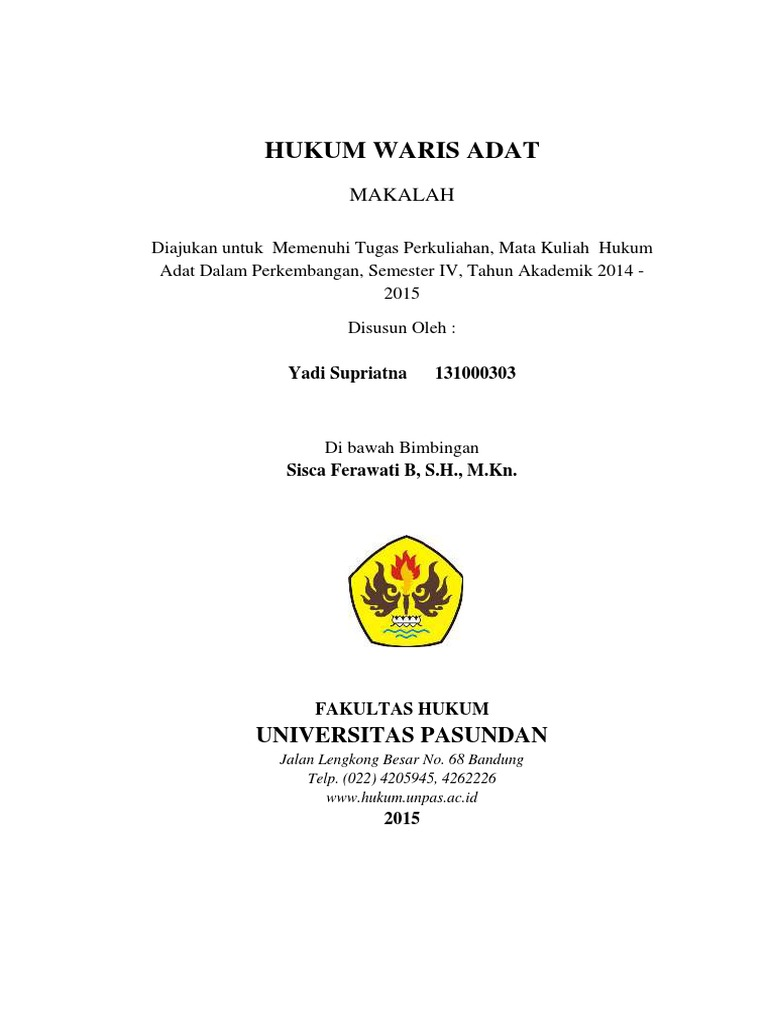 Makalah Hukum Adat Wood Scribd Indo