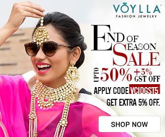 Upto 50% plus Extra 5% OFF On Womens Jewelry @Voylla