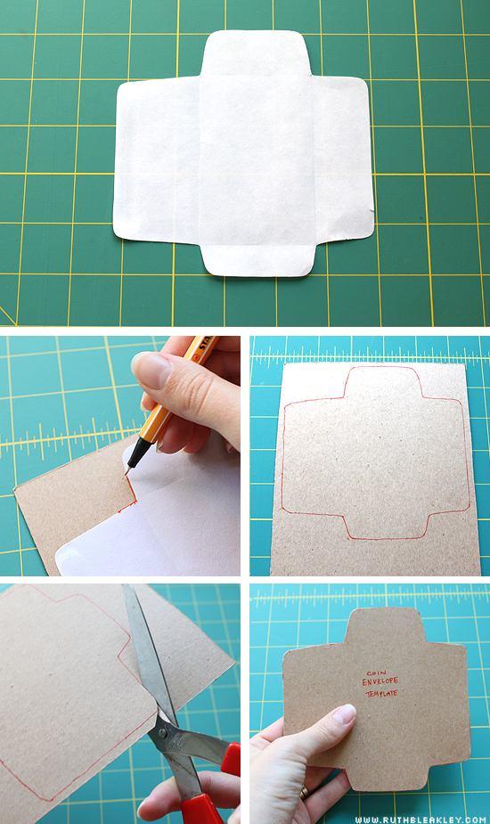 proceso para hacer sobres decorados