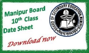 Manipur Board HSLC Time Table