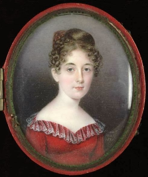 Woman in a red Dress (1821), Anna Claypoole Peale