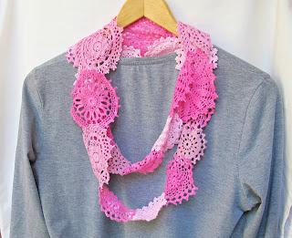 domum vindemia shabby chic doily scarf infinity