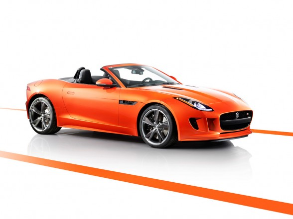 2013 Jaguar F-Type Firesand Front Angel