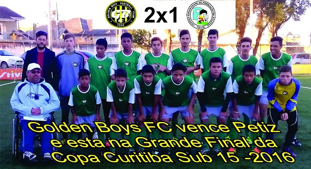 Golden Boys se classificam para a final da Copa Curitiba sub15