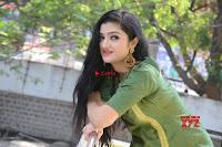 Akshitha cute beauty in Green Salwar at Satya Gang Movie Audio Success meet ~  Exclusive Galleries 007.jpg