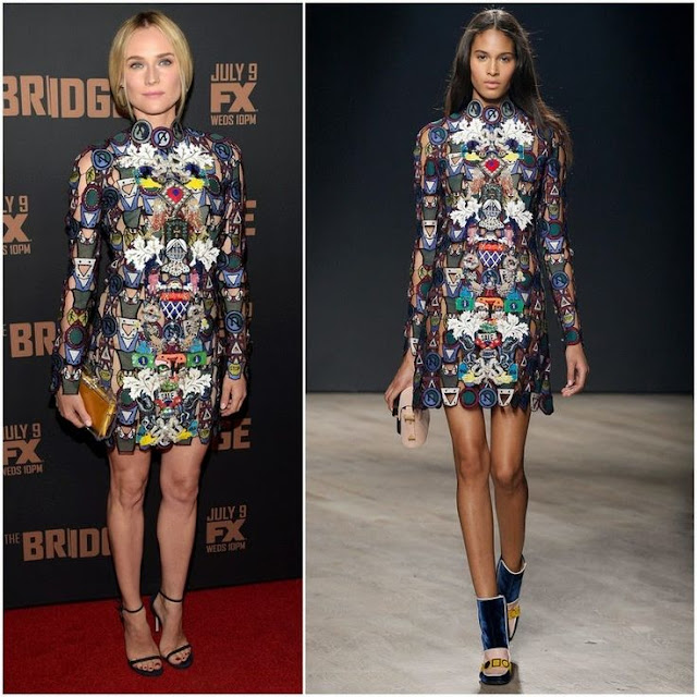 Diane Kruger in Mary Katrantzou – 'The Bridge' Season 2 Premiere