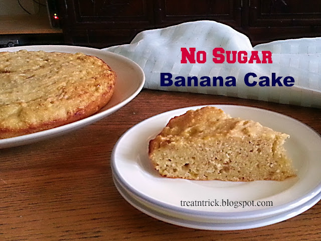 No Sugar Banana Cake Recipe @ treatntrick.blogspot.com