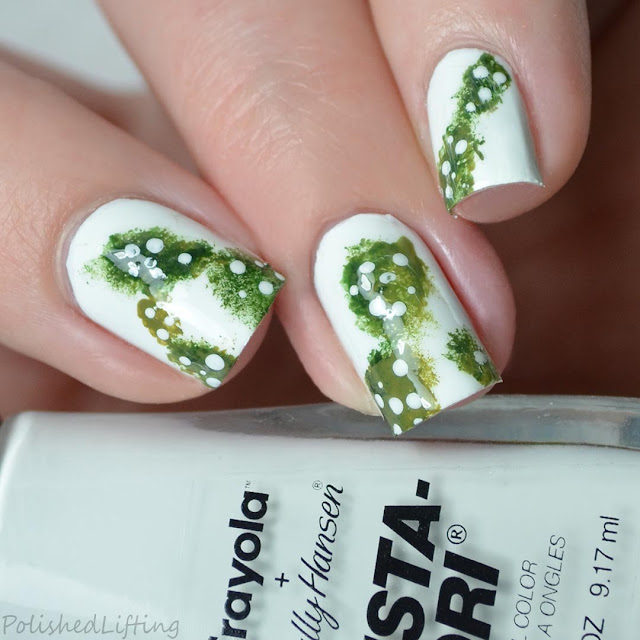 cactus themed nail art