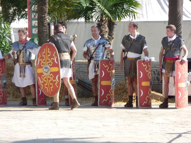 Историческая реконструкция в Бланесе. Отряд римлян.