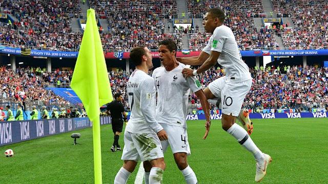 أهداف وملخص مباراة فرنسا وأوروجواي اليوم في كأس العالم روسيا 2018