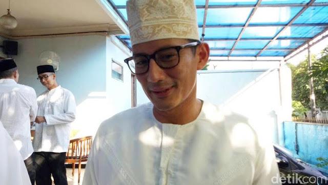 Sandiaga Ungkap Obrolan dengan Agus pas Hadiri Open House SBY