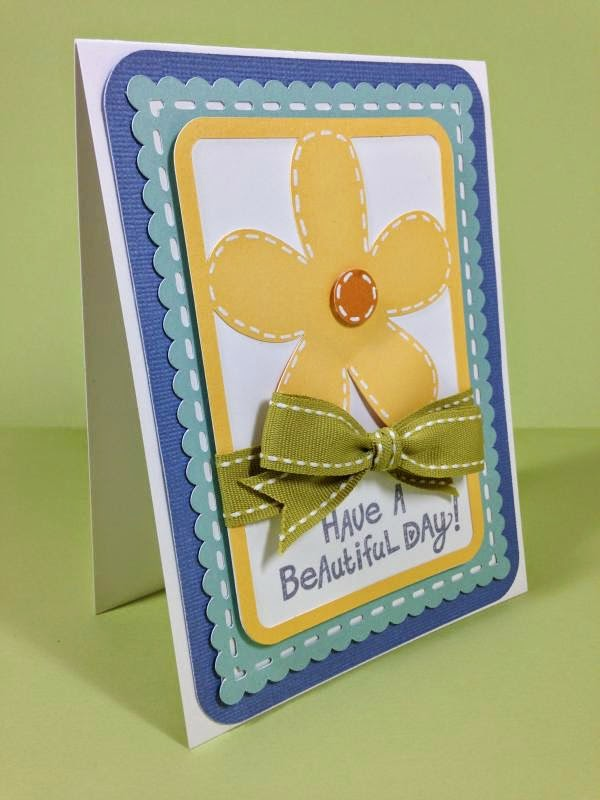 Close To My Heart Artfully Sent Cricut Cartridge Beautiful Day card sideview