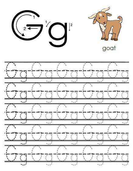 free printable worksheets the alphabet letter g. Black Bedroom Furniture Sets. Home Design Ideas