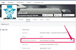 كيفية إنشاء عنوان ويب لصفحات الفيس بوك