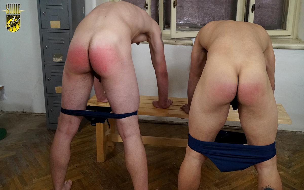Gay friends compare cock size